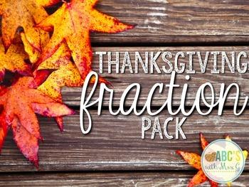 Thanksgiving Fraction Pack