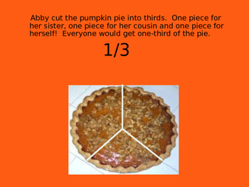 Thanksgiving Fractions Math Power Point