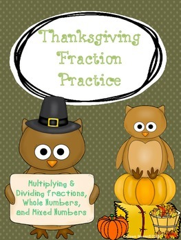 Thanksgiving Fraction Practice