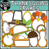 Thanksgiving Frames Clipart, Holiday Borders