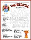 Thanksgiving Activity - Thanksgiving Crossword Puzzle