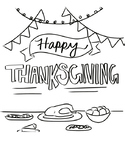 Thanksgiving Free Coloring Page