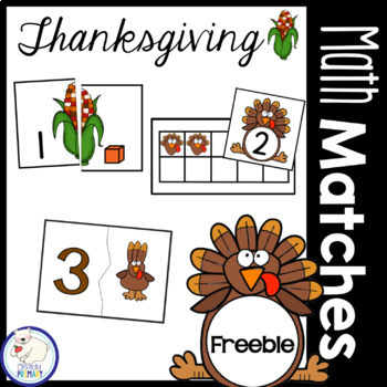 Thanksgiving Free Math Centers : Numbers 1-12