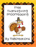 Thanksgiving FREE Proofreading Worksheet