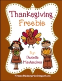 Thanksgiving Freebie: Common Core Aligned