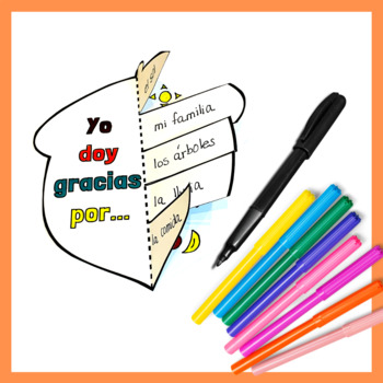 Spanish Interactive Notebook - Thanksgiving