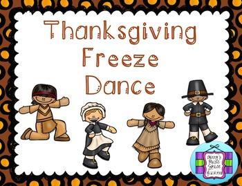 Thanksgiving Freeze Dance