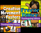 Thanksgiving Freeze Dance and Creative Movement