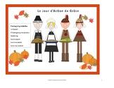 Thanksgiving French Activities Le Jour d' Action de Grace