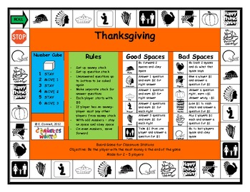 Thanksgiving French Board Game