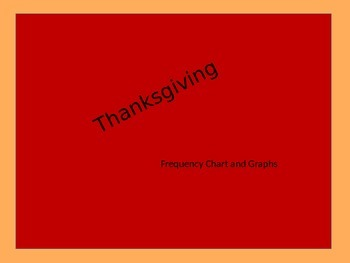 Thanksgiving Frequency Chart and Graphs