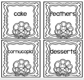 Thanksgiving Friend Frog ABC Order