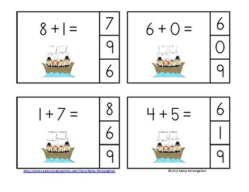 Thanksgiving Friends Addition Math Centers (Sums of 0-10)