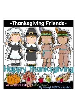 Thanksgiving Friends Clipart Collection