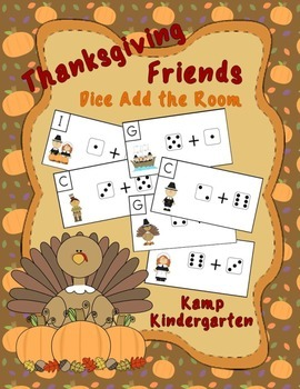 Thanksgiving Friends Dice Add the Room (Sums to 10)