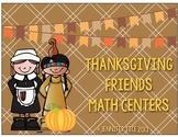 Thanksgiving Friends Math Stations