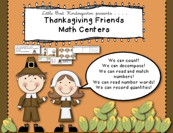 Thanksgiving Friends Number Centers