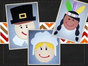 Thanksgiving Friends {Pilgrim & Native American Craftivities}