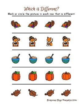 Thanksgiving Friends PreK Printable Learning Pack