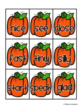 Thanksgiving Friends Synonyms Match