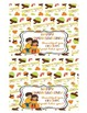 Thanksgiving Friends Treat Bag Toppers
