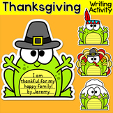 Thanksgiving Writing - Frogs Writing Activity and Bulletin Board Decor