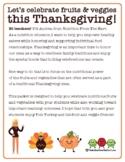 Thanksgiving Fruits & Veggies Activity & Bulletin Board Packet