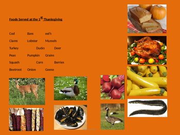Thanksgiving - Full History - Power Point - Information Facts Pictures
