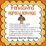 Thanksgiving Fun! A Packet Full of Thanksgiving Literacy A