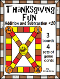 Thanksgiving Fun ~ Addition and Subtraction within 20 ~ Game