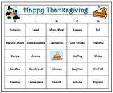 Thanksgiving Fun Bingo Game-60 Bingo Cards with Call Words