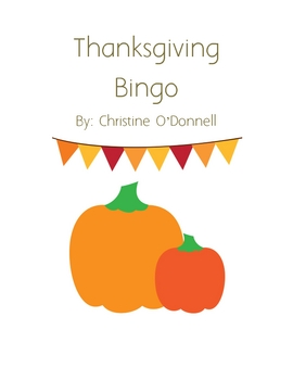 Thanksgiving Fun Bingo: turkey, pilgrim, indian