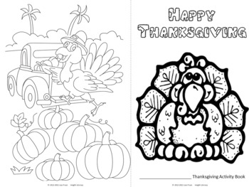 Thanksgiving Fun Booklet for Students