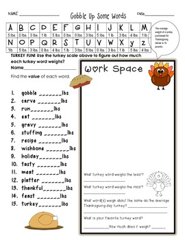 Thanksgiving Fun Common Core Math Pack