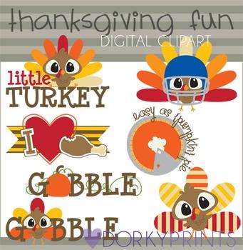 Thanksgiving Fun Digital Clip Art