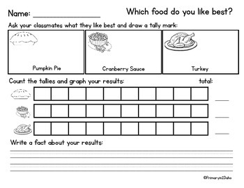 Thanksgiving Fun - Food graph and word search