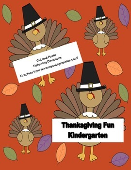 Thanksgiving Fun For Kindergarten Following Directions Cut and Paste