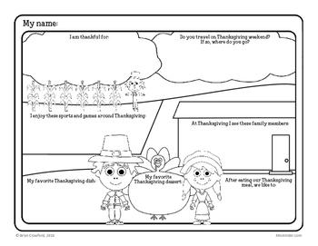 Thanksgiving Fun Frames Writing Activity