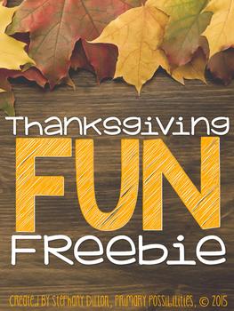 Thanksgiving Fun Freebie!