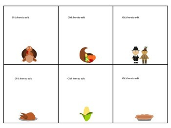 Thanksgiving Fun Game Board