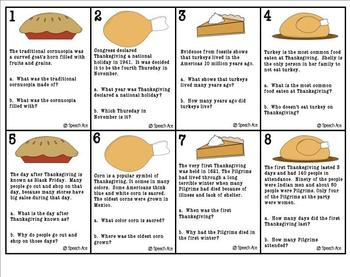 Thanksgiving Fun: Inferences, Context Clues, Details, and Story Starters