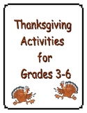 Thanksgiving Fun Learning Activities