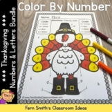 Thanksgiving Color By Code Thanksgiving Letters and Number