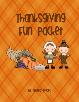 Thanksgiving Fun- Literacy Practice