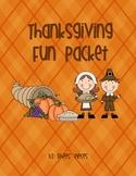 Thanksgiving Fun- Literacy Practice