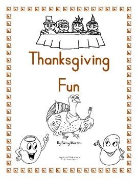 Thanksgiving Math Fun Packet