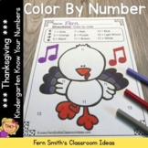 Thanksgiving Color By Numbers Thanksgiving Math Know Your Numbers