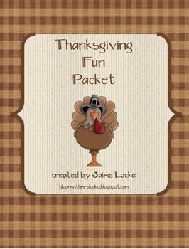 Thanksgiving Fun Packet