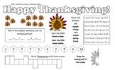Thanksgiving Fun Page