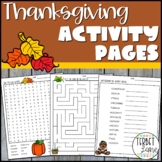 Thanksgiving Activities and Fun Pages